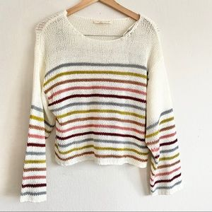 Lovestitch Abigail Striped Sweater NWT Sz S